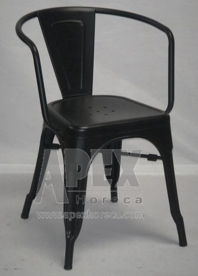 Tolix Arm Chair Steel Industrial Chair Restaurant Furniture Cafe Dining Chair pictures & photos
