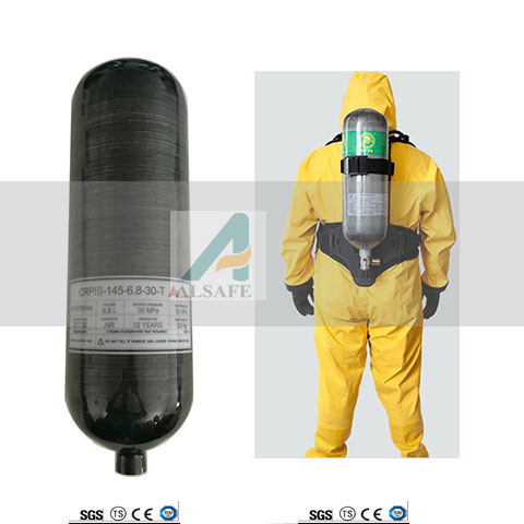 6.8L Carbon Fiber Strengthed Firefighting Air Tanks pictures & photos
