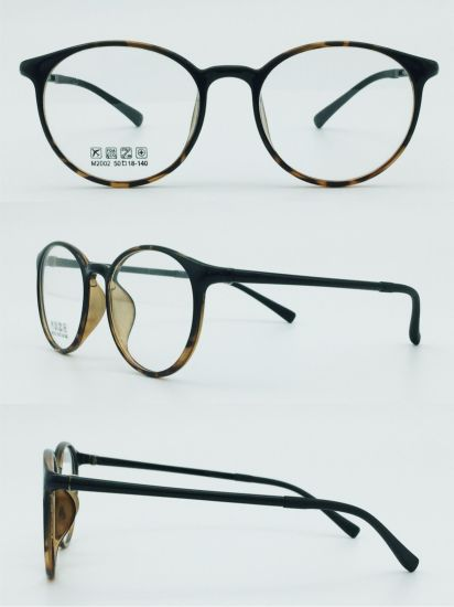 in Stock Half Plastic Steel Factory Directly Sell New Design Light Eyeglasses Eyewear Optical Frames pictures & photos