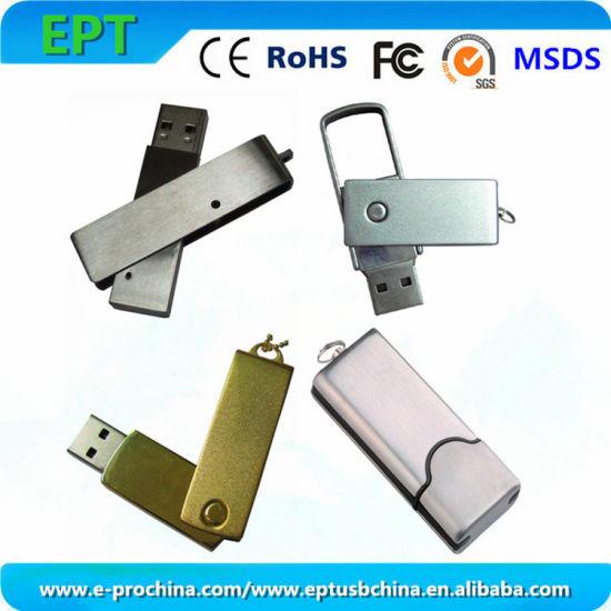 Hot Sale Flash Memory Disk Metal Swivel USB Flash Drive (EM016)