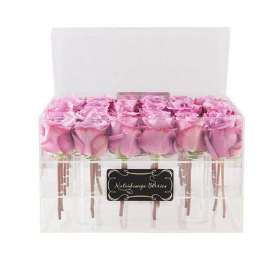 Milk-White Acrylic Rose Display Package Box