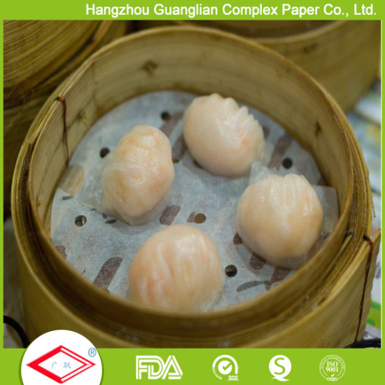 5.5 Inch Silicone Treated Steaming Paper with Holes