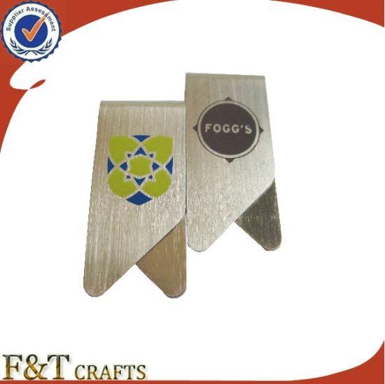 Promotional Custom Printing Logo Flat Stainless Steel Metal Paper Clips