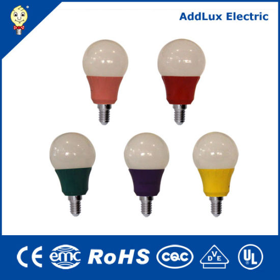 UL cUL FCC RoHS Ce Saso 120V 3W E26 E27 Colorful LED Bulb Made in China for Living, Kithchen, Bed Room, Dining Room Lighting From Best Exporter Factory