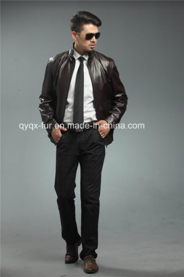 2015 Wholesale Real Leather Men's Jacket