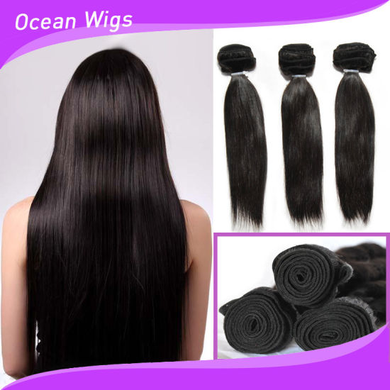 8A Grade Yaki Straight Cheap Brazilian Hair Weave Bundles pictures & photos