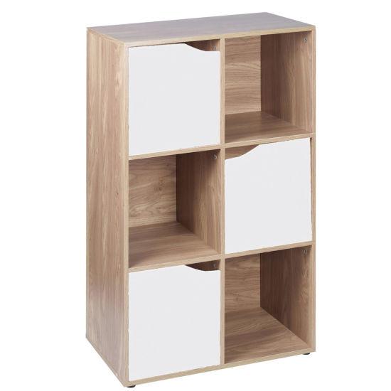 6 9 Cube Modular Storage Unit Wood Door Bookcase Bookshelves