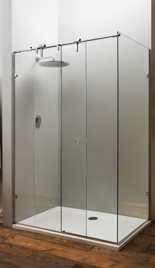 China Best Price Shower Frameless Glass Sliding Door For Bathroom
