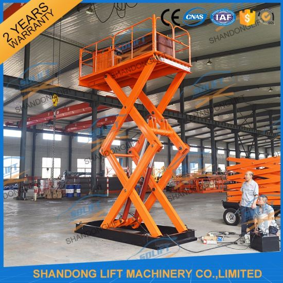 Scissor Type Electric Lifter Warehouse Lifter Machine with Ce pictures & photos