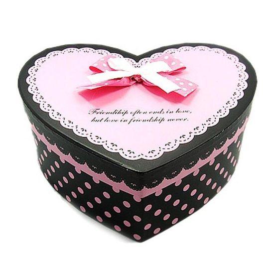 Fashion Heart Shape Chocolate Cardboard Paper Gift Box