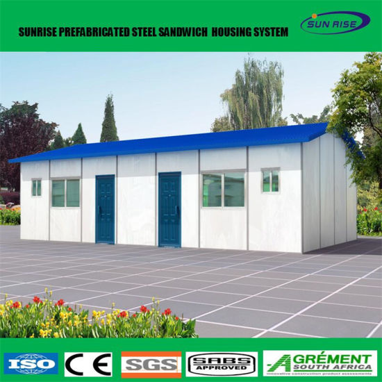 Awesome Low Cost Light Steel Structure Prefab Flat Pack Office Container House
