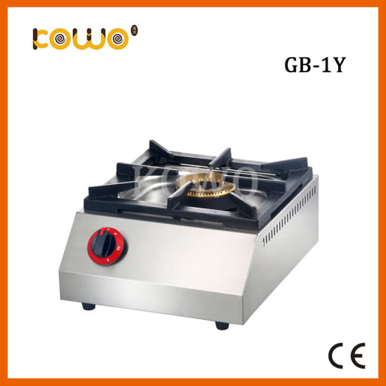 Portable Stainless Steel Table Kitchen Equipment LPG Gas Cooker Stove with 1 Burner