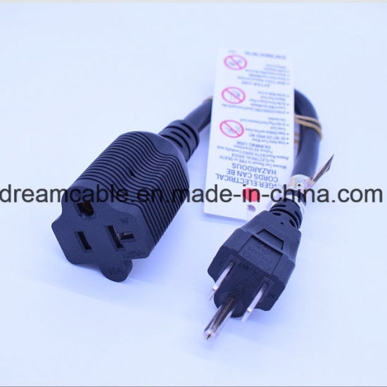 2m Black UL NEMA5-20p Extension Power Cord pictures & photos