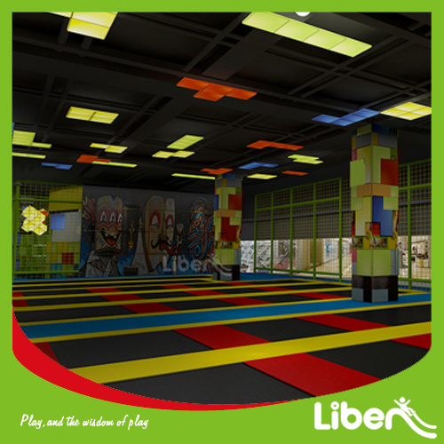 Designed as Your Place Indoor Trampoline Park for Fun Jumping