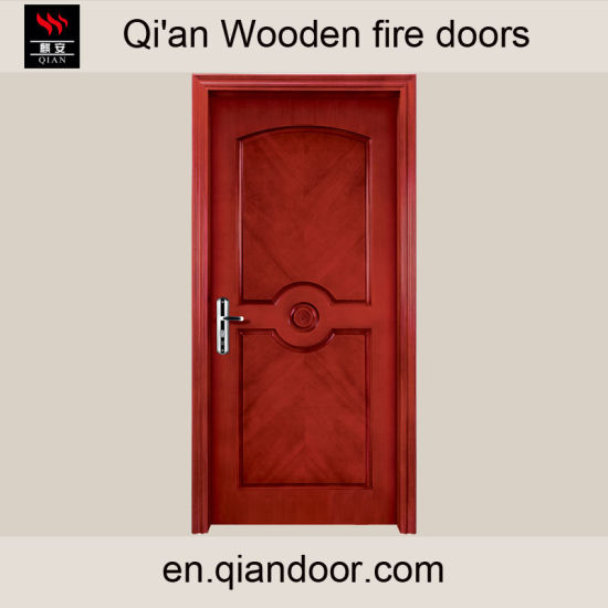 China Interior Exterior Wooden Timber Fire Door Fire Rated Wooden ...