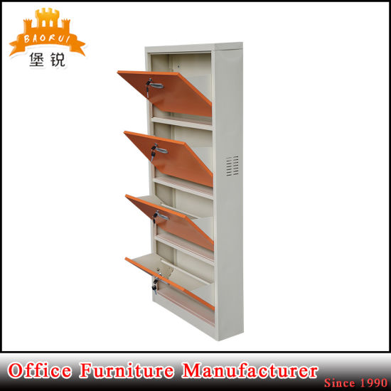Colourful Rust-Proof 3 and 4 Rack Metal Storage Steel Shoes Rack Cabinet pictures & photos