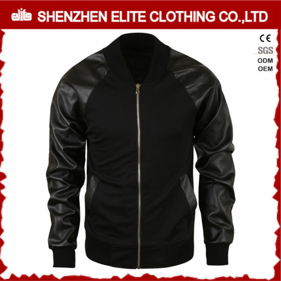 2016 Men Custom PU Leather Jackets Made in China pictures & photos