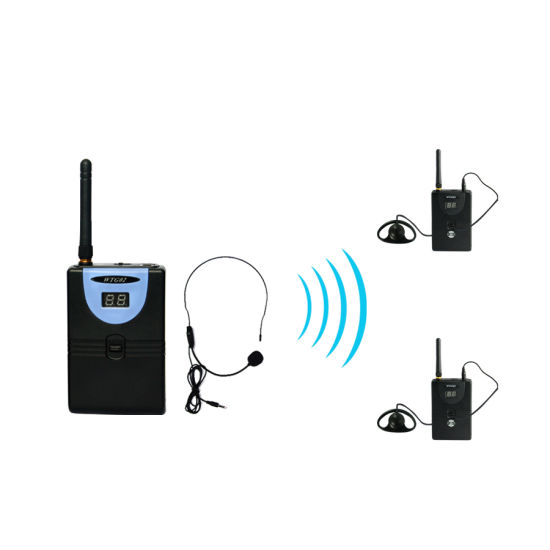 Professional Tp-Wireless Tour Guide System (1 transmitter and 2 receivers)