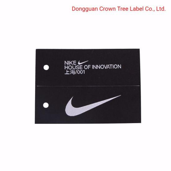 Center Folded Garment Woven Label Printed Name Logo