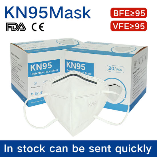 KN95 Mask Wholesale White Non-Woven Face Mask 5 Ply Earloop Face Mask