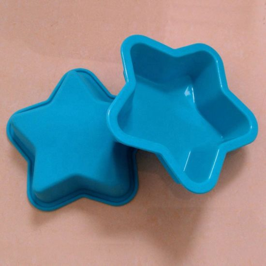 Customized Star Shape Silicone Muffin Pan, Silicone Cake Mould