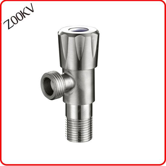 Stainless Steel Sanitaryware G3/8 American Standard Bathroom Angle Valve Fitting Water Tap