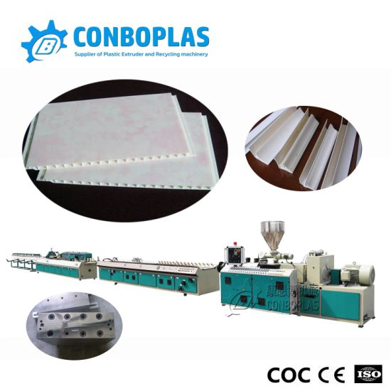 Plastic Twin Double Screw Extruder PVC Wall Ceiling Panel Profile Extrusion Production Line