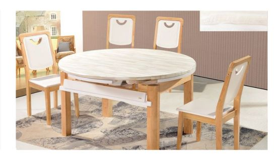 Extendable Dining Sets Extension, Round Extendable Dining Table Set For 6