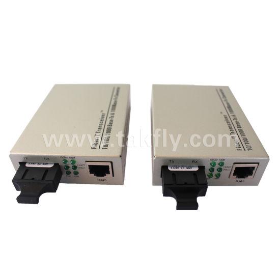 Gigabit Fiber Optical Media Converter 1000Mbps Multi-Mode Duplex SC Port 2KM