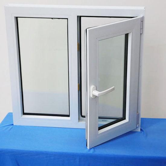 Guangzhou UPVC Double Glazed Glass Casement Doors and Windows/PVC-U Plastic Steel Laminated Glass Tilt and Turn House Window Price