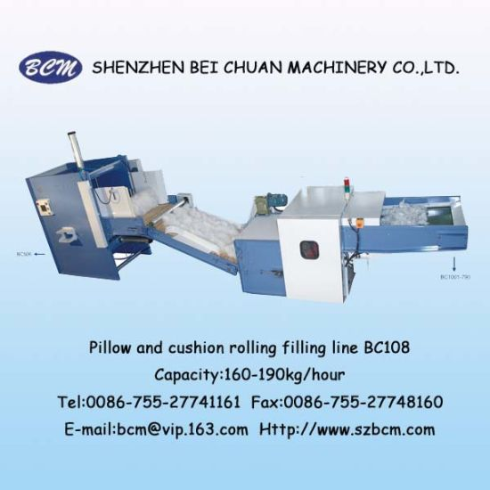 Pillow &Cusihion Rolling Filling Line Bc108 pictures & photos