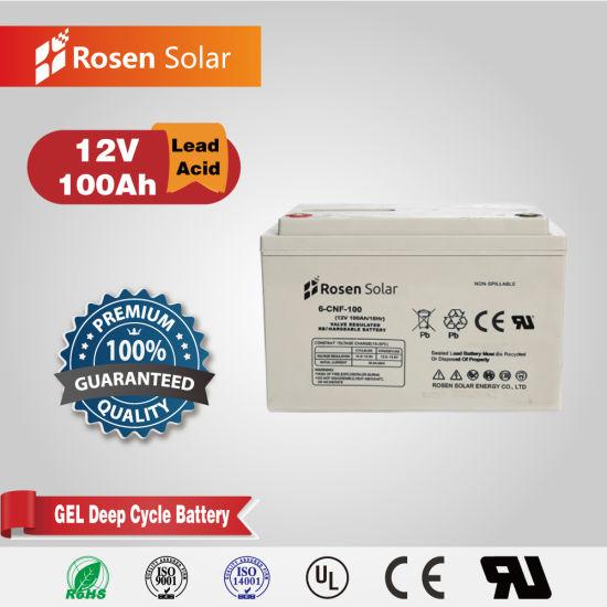 High Quality Battery 100ah 12V 24V 48V VRLA Gel Solar Battery