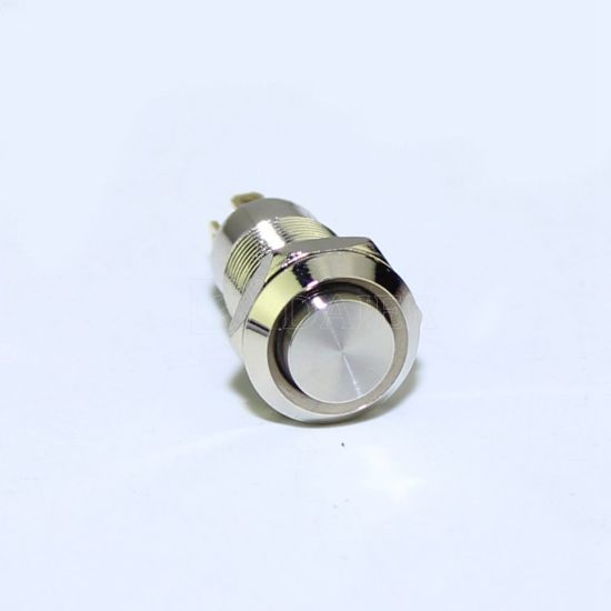 SPST Momentary Metal Vandal Proof Push Button Switch 1 Circuit 2A 250V off- on