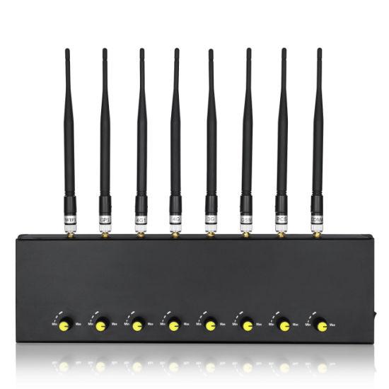 Desktop Adjustable 8 Bands Cell Phone WiFi GSM GPS Signal Jammer for Sale