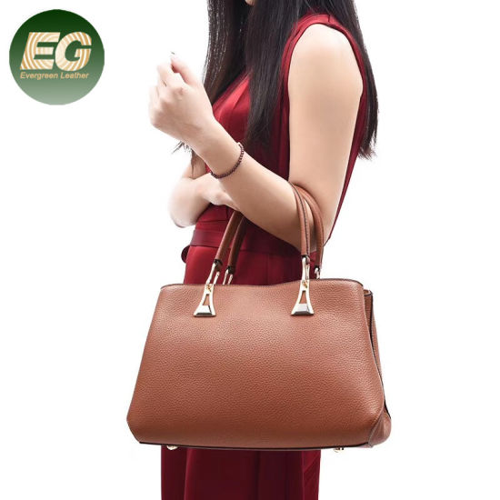 Guangzhou Factory Wholesale Leather Handbag Tote Bag for Women Emg5508 pictures & photos