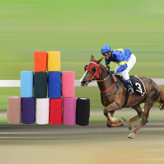 Horse Racing Running Climbing High Quality Elastic Self-Adhesive Cohesive Bandage