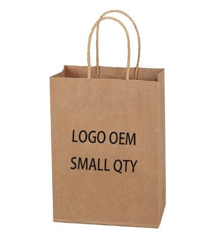 China Supplier Advertising Package Cheap Shopping Brown Kraft Paper Bag pictures & photos
