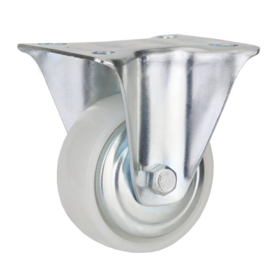 White PP Wheel Rigid Caster