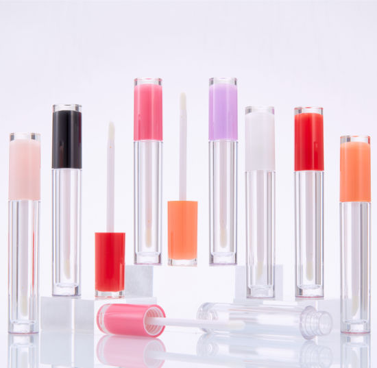 5 Ml Lip Gloss Tube with Wand Empty Plastic Lipstick Sample Refillablelip Gloss Container with Rubber Stopper for Cosmetic Packaging