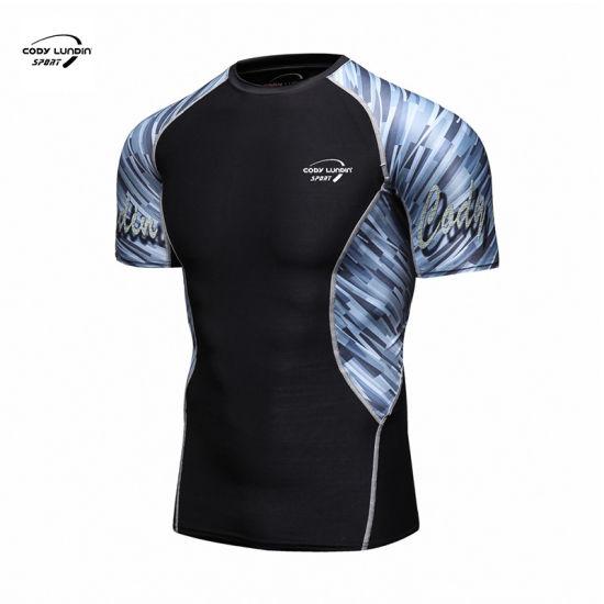 Cody Lundin Custom Men Gym Clothes Compression Sweat T Shirt 2020 OEM Tshirts Blank Base Layer Long Sleeve Running Rash Guards