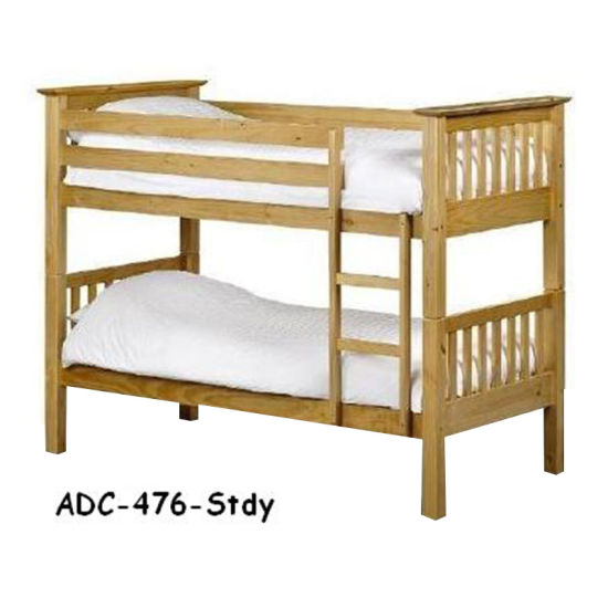 China Home Furniture Cheap Used Pine Wood Kids Bunk Beds For Sale
