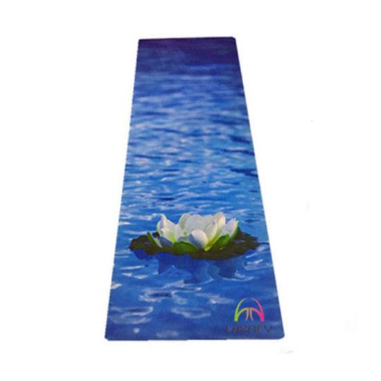 Organic Natural Rubber Printed Anti-Slip Yoga Mat