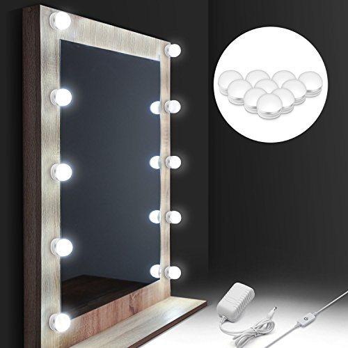 Led Lighted Vanity Hollywood Dressing, Vanity Bulb Mirror