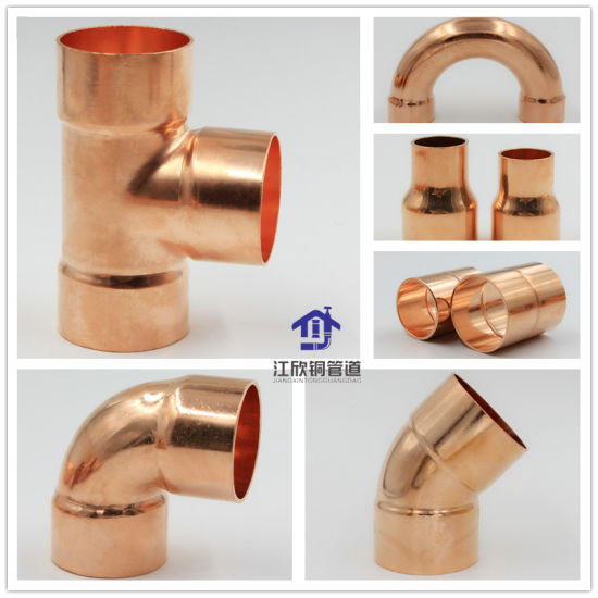 Copper Coupling Elbow Tee Reducer Plumbing Fitting Refrigeration Pipe Parts