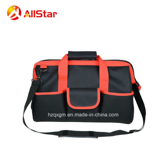 Big Capacity Polyester Tool Bag Shoulder Bag with Steel Wire for Open Mouth