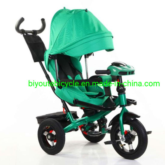 4 in 1 New 3 Wheel Baby Tricycle Child Tricycle with Light