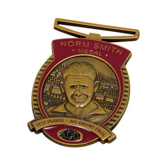 Factory Cheap Custom Your Own Design Medallion 3D Gold Metal Award Soccer Sport Medal with Medal Ribbon