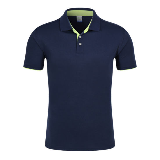 China Clothing Factory OEM 100% Cotton Pique Men's Polo Shirts Custom Fashion Short Sleeve Polo