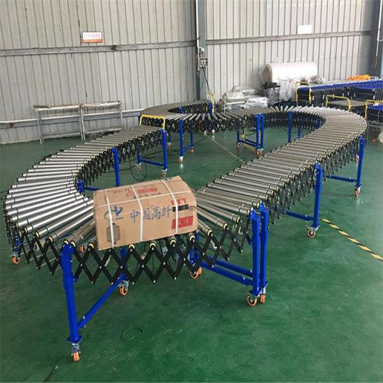 Drum Motor Powered Ribbed Belt Roller Conveyor Motorized Roller Conveyor