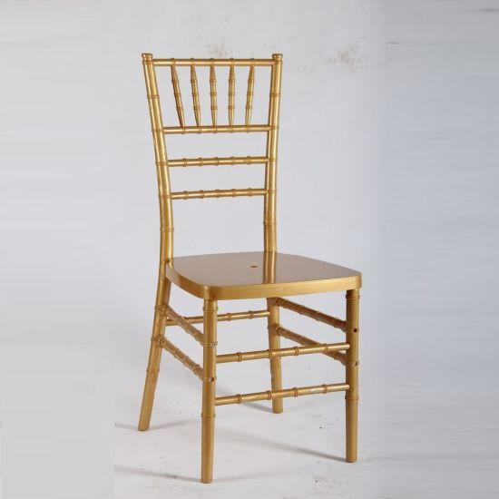 Gold Wedding Morden Furniture Polycarbonate Resin Chiavari Stacking Chair